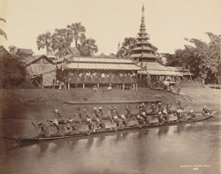 Burmese racing boats